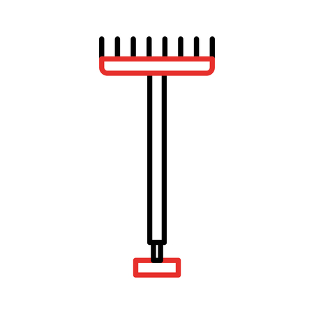 farm rake isolated icon vector illustration design