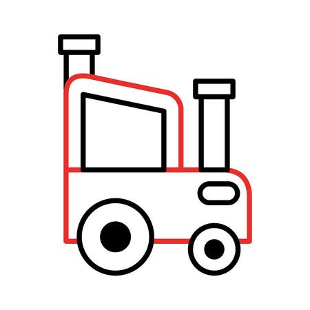 Granja tractor aislado icono de ilustración vectorial de diseño Foto de archivo - 81085292
