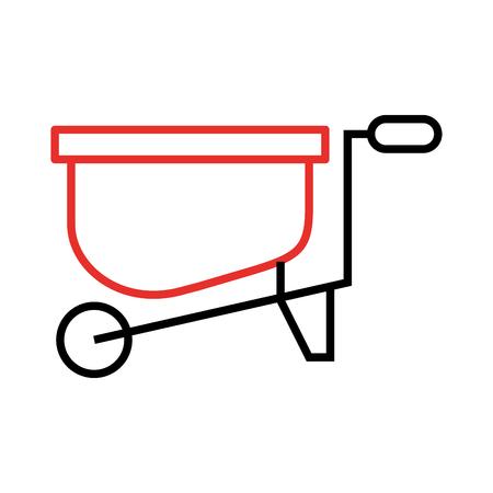 wheelbarrow farm isolated icon vector illustration design Banco de Imagens - 81085294