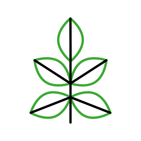 Gekweekte plant geïsoleerd pictogram vector illustratie ontwerp Stockfoto - 81085303