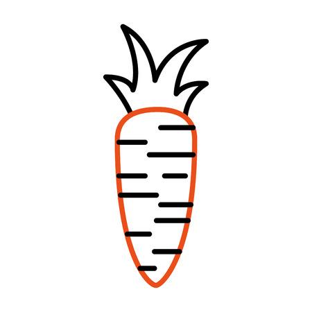 vers wortel geïsoleerd pictogram vectorillustratieontwerp