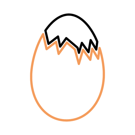 chicken eggs isolated icon Ilustrace