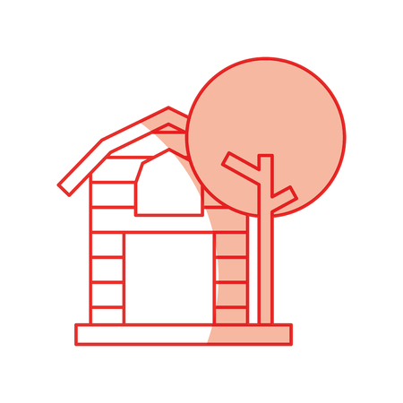建物のアイコン ベクトル図設計安定したファーム  イラスト・ベクター素材