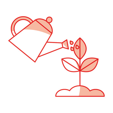 landbouw sprinkler met plant vector illustratie ontwerp