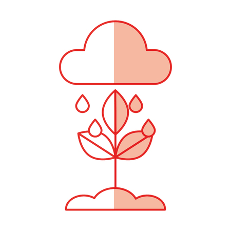 weather cloud rainy isolated icon vector illustration design Illustration