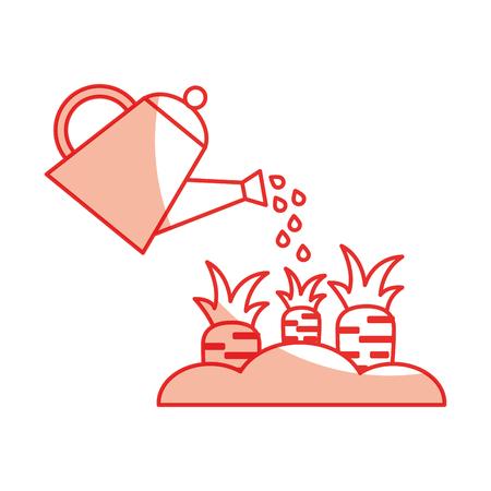 Wortel cultuur geïsoleerde pictogram vector illustratie ontwerp Stock Illustratie