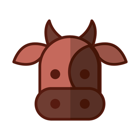 cow head isolated icon vector illustration design