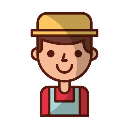 farmer character isolated icon vector illustration design