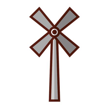 ファーム分離風車アイコン ベクトル イラスト デザイン