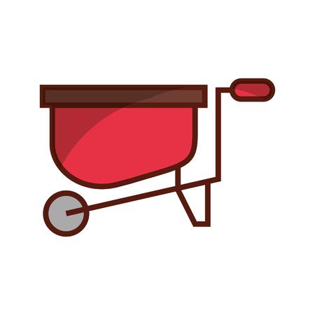 wheelbarrow farm isolated icon vector illustration design Illustration