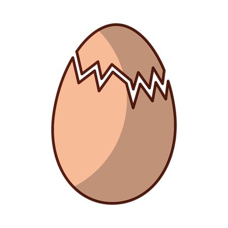 チキン卵分離アイコン ベクトル イラスト デザイン アイコン