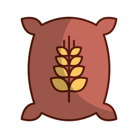小麦のアイコン ベクトル イラスト デザインの袋  イラスト・ベクター素材