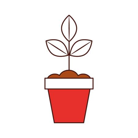 Gekweekte plant in pot vector illustratie ontwerp Stockfoto - 81084893