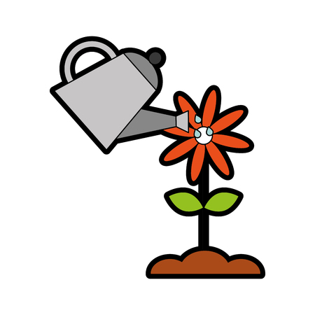 farming sprinkler with flower vector illustration design Иллюстрация