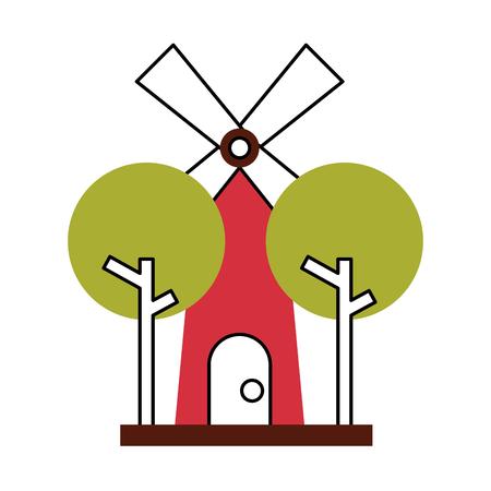 farm windmill isolated icon vector illustration design