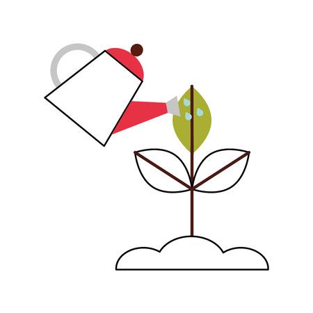 farming sprinkler with plant vector illustration design