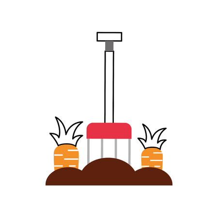 carrot cultivation isolated icon vector illustration design