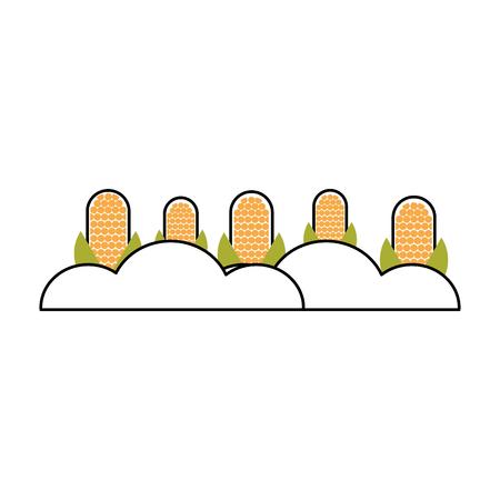 maïs teelt geïsoleerd pictogram vector illustratie ontwerp Stock Illustratie
