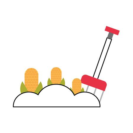 Cultivo de maíz aislado icono diseño de ilustración vectorial Foto de archivo - 81085608