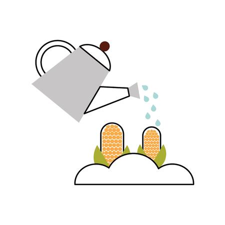 corn cultivation isolated icon vector illustration design