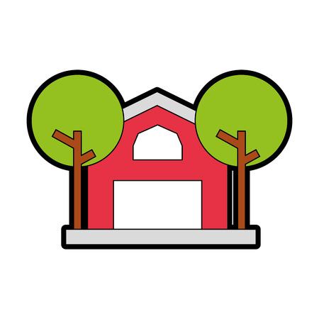 농장 안정된 건물 아이콘 벡터 일러스트 디자인 스톡 콘텐츠
