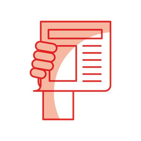 ニュース ペーパー ニュース アイコン ベクトル イラスト デザイン影
