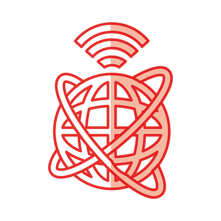 Global internet updating icon vector illustration design shadow
