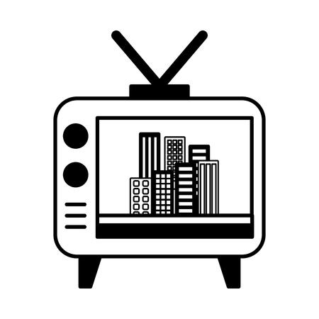 Große alte TV-Symbol Vektor-Illustration Design-Grafik Standard-Bild - 81125823