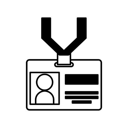 Illustrazione vettoriale icona di carta di identificazione illustrazione grafica Archivio Fotografico - 81125826