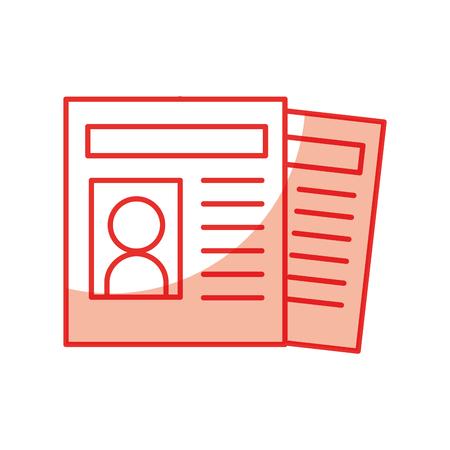 News paper news icon vector illustration design shadow