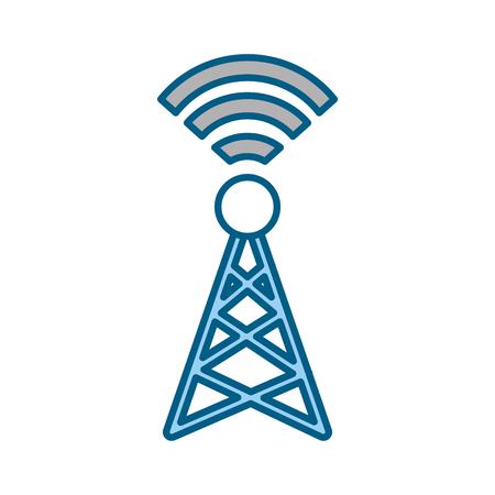 tv tower: World signal antenna icon vector illustration design graphic Illustration