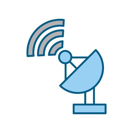 World signal antenna icon vector illustration design graphic Illustration