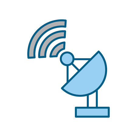 world receiver: World signal antenna icon vector illustration design graphic Illustration