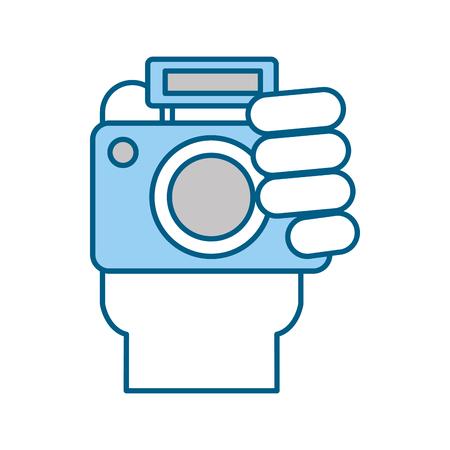 Professioneel grafisch de illustratieontwerp van het digitale camerapictogram