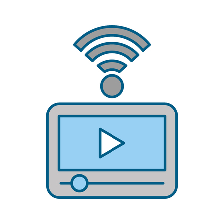 Tablet internet connection icon vector illustration design graphic Ilustrace