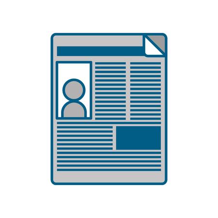 Nieuws papier nieuws pictogram vector illustratie ontwerp grafisch