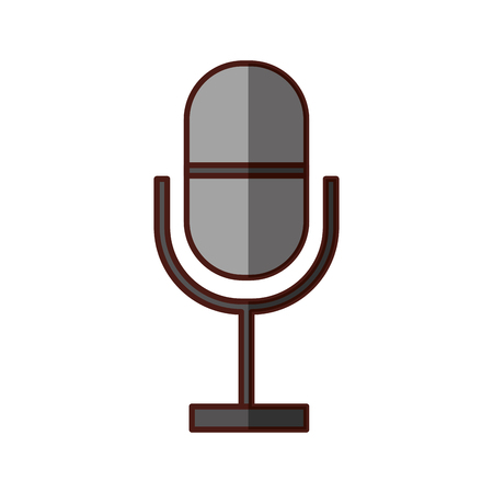 Professional microphone transmit icon vector illustration design shadow