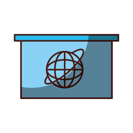 Ombra di progettazione dell'illustrazione di vettore dell'icona di notizie della televisione del salone Archivio Fotografico - 81127966