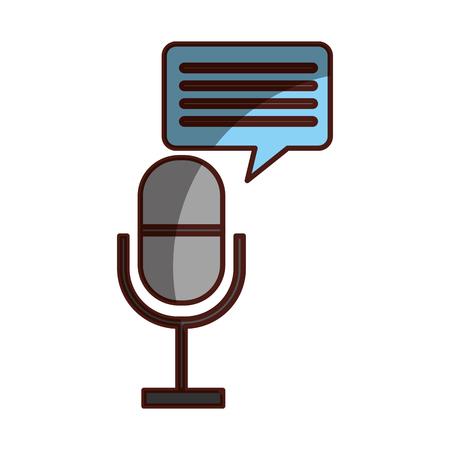 Profesional de micrófono transmitir icono ilustración vectorial sombra de diseño Foto de archivo - 81125645