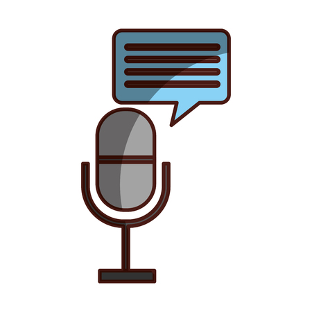 Professional microphone transmit icon vector illustration design shadow