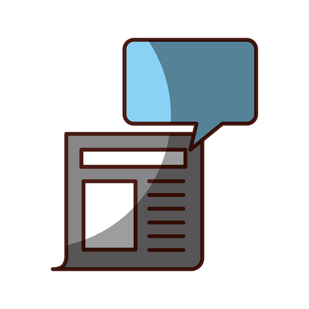 News paper news icon vector illustration design shadow