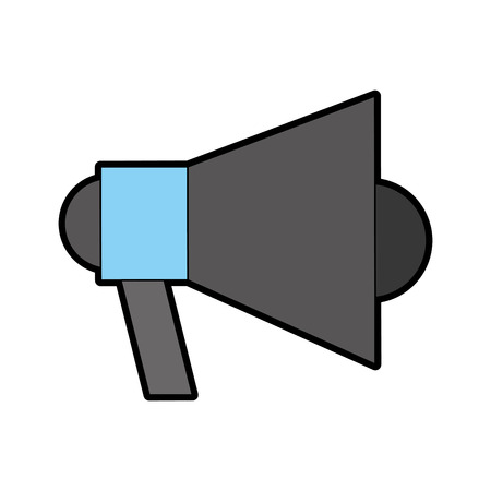Megaphone talk person icon vector illustration design graphic