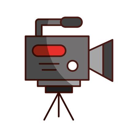 Berufsaufnahmekameraikonenvektorillustrations-Designschatten Standard-Bild - 81124746