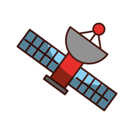 Satellite universe antenna icon vector illustration design shadow