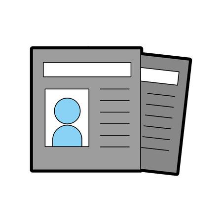 ニュース ペーパー ニュース アイコン ベクトル イラスト デザイン グラフィック