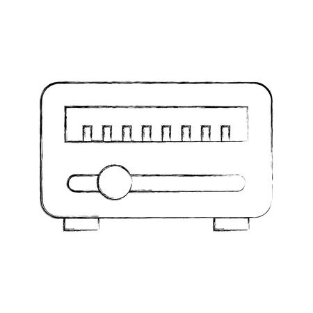 News satellite radio icon vector illustration design fuzzy Ilustrace