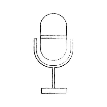 Professional microphone transmit icon vector illustration design fuzzy Illustration