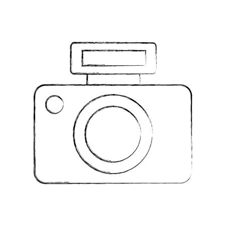 Professioneel digitaal de illustratieontwerp van het digitale camerapictogram verward Stock Illustratie