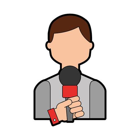 Profesional micrófono transmitir iconos ilustración vectorial diseño gráfico Foto de archivo - 81126039