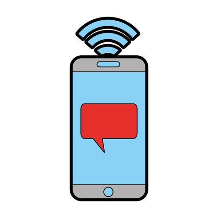 Cellular connection technological information icon vector illustration design graphic Ilustração